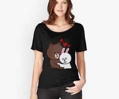 Ours brun lapin cony lapin amour T-shirt
